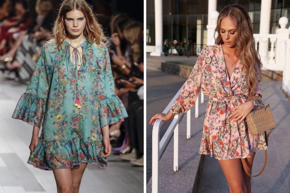 Vestidos florais leves e elegantes