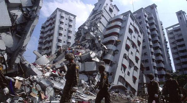 Predio caido, terremoto