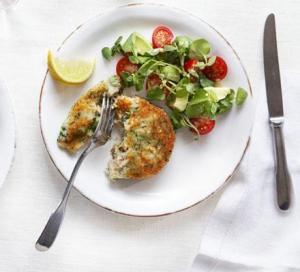 qofte me salmon dhe brokoli
