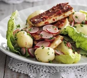sallate e ngrohte me patate