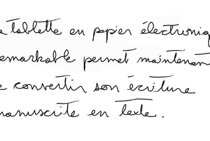 tablette papier électronique Remarkable conversion écriture manuscrite