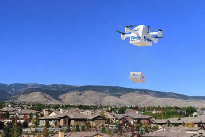 livraison par drone Flirtey Facebook Live