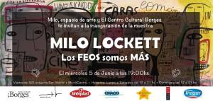 Milo Lockett en el Borges