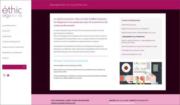 Ethic Ergonomie - Site Cataluna