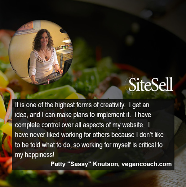 "Personal Freedom Quote by Patty ""Sassy"" Knutson at http://www.sitesell.com/blog/2015/07/personal-freedom-quotes-by-everyday-entrepreneurs.html"