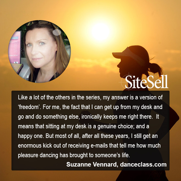 Personal Freedom Quote by Suzanne Vennard at http://www.sitesell.com/blog/2015/07/personal-freedom-quotes-by-everyday-entrepreneurs.html