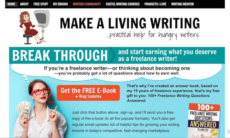 Make A Living Writing Website