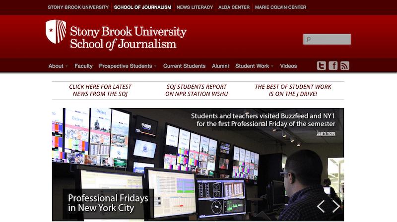 Stony Brook University Website