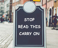 Stop, Read This , Carry On