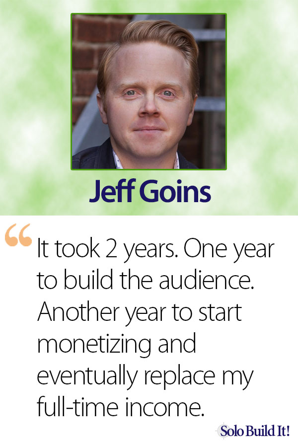 Jeff Goins - How Long Does It Take to Make Money With an Online Business?
