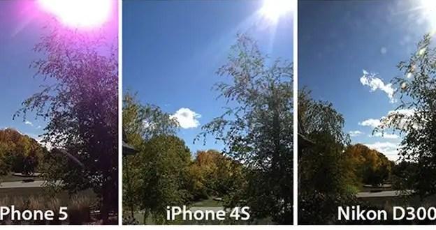 Por qué las fotos del iPhone 5 de Apple salen moradas