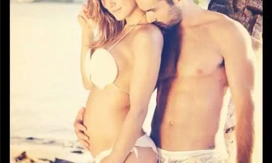 Foto: Lola Ponce y Aaron Díaz embarazados
