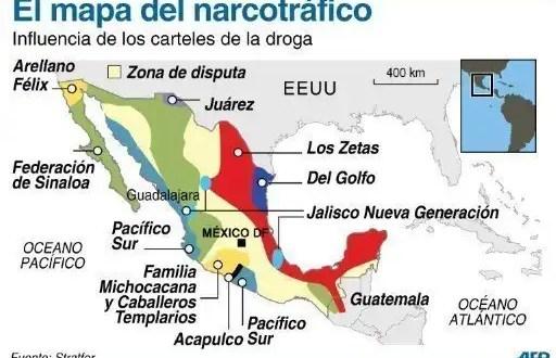 Así es el nuevo mapa del narcotráfico