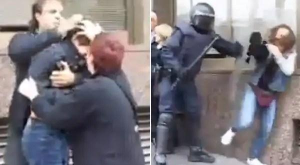Video indignante: Policía española golpea a niño de 13 años