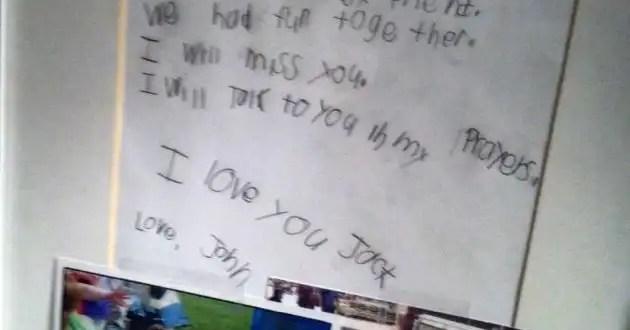 Emocionante carta de un niño de Newtown a su amigo fallecido