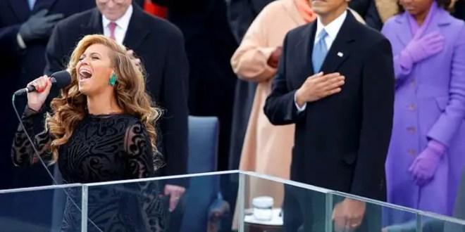 Polémica: Beyoncé hizo playback en la protesta de Barack Obama - Video
