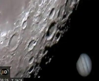 Video espectacular: La Luna se come a Júpiter