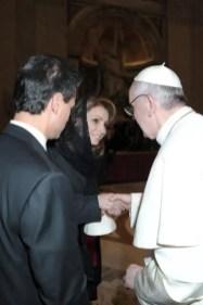 Fotos: El encuentro de Enrique Peña Nieto y Angélica Rivera con el Papa Francisco