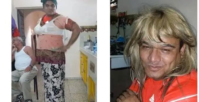 Fotos del líder del PAN de Campeche vestido de mujer