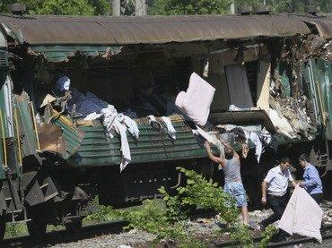 9 muertos en un choque de trenes cerca de Moscú