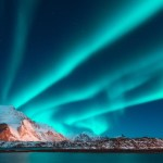 Aurora Borealis in the night sky