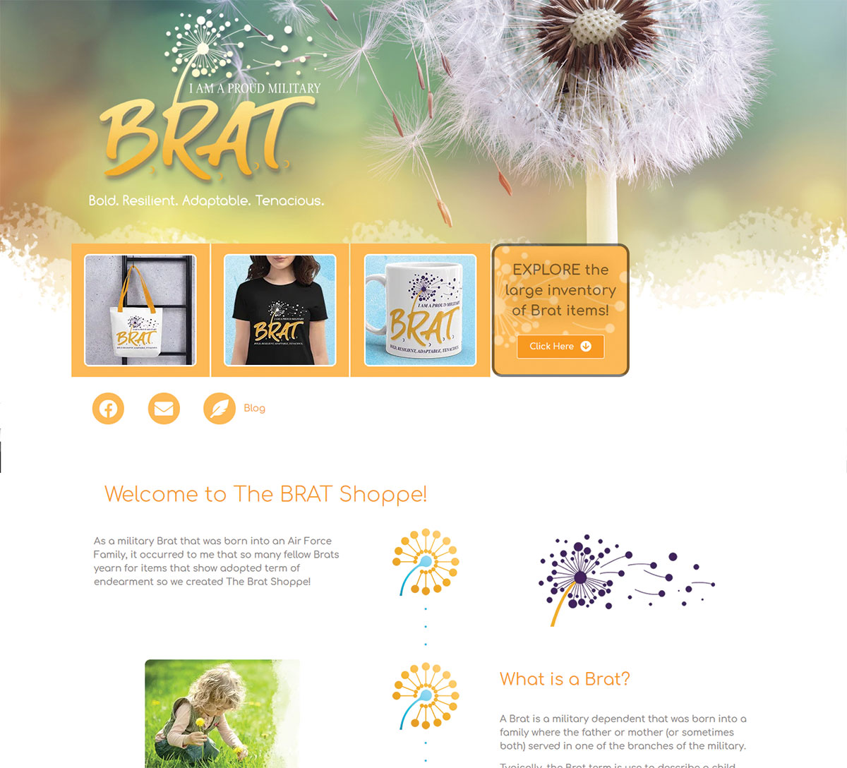 The Brat Shoppe Website Design & Marketing