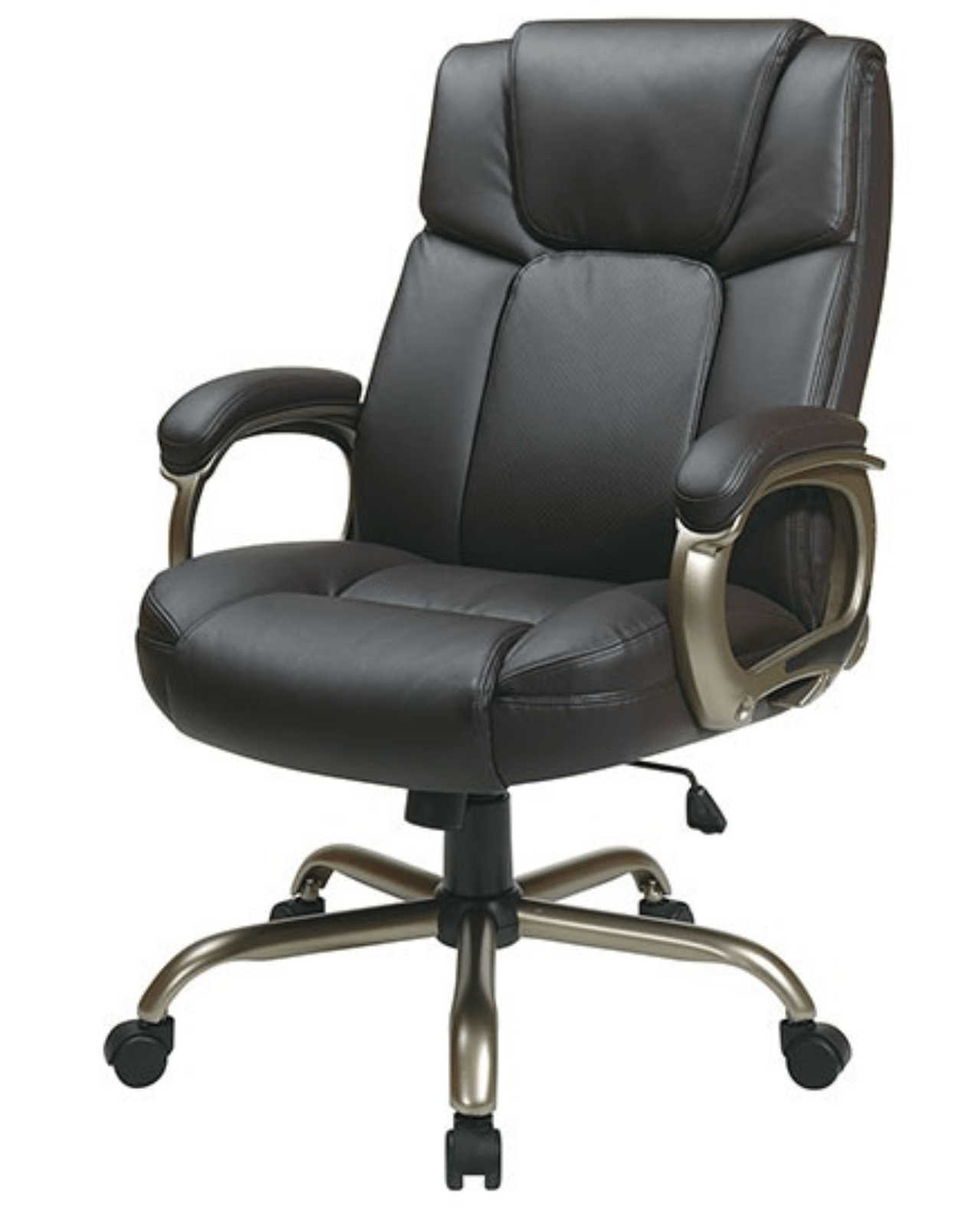 ergonomic chair bd antique sewing with drawer executive big mans espresso eco leather seat