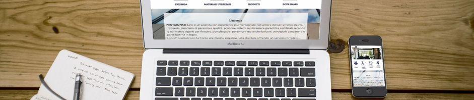 Sito web aziendale PENTAINFISSI