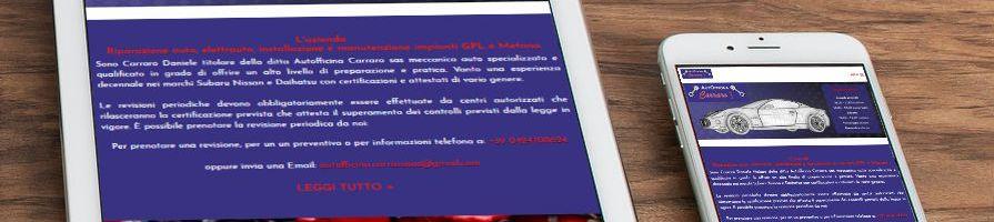 Sito Web aziendale AUTOFFICINA CARRARO
