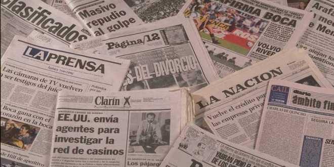 Diarios de cada provincia Argentina y Diarios Nacionales