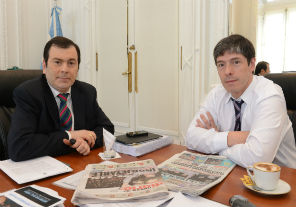 Abal Medina se reunió con el gobernador Zamora