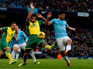 El Kun Agüero , la gran figura en la goleada del Manchester City