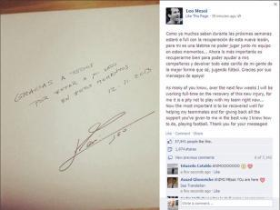 """Lionel Messi: """"Devolveré todo el cariño de la mejor forma, jugando al fútbol"""""""