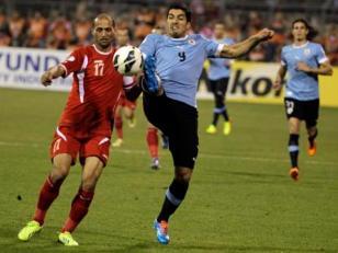 Uruguay derrota a Jordania y se acerca al Mundial 2014