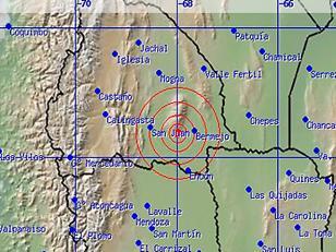 Sismo de 5.5 grados  en Mendoza