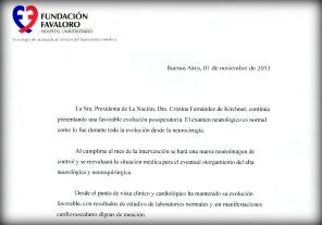 Cristina Kirchner evolucionana favorablemente