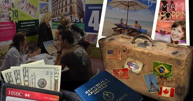 Avivadas de los argentinos para hacerse de dólares con tarjeta en el exterior