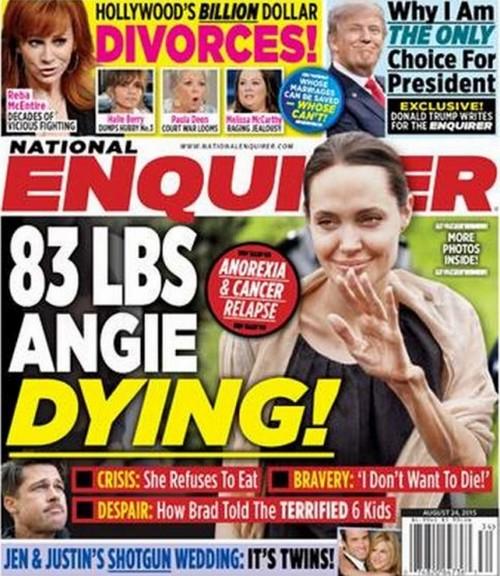 Angelina Jolie pesa 37 kilos