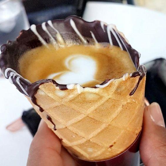 Nueva y fascinante forma de tomar café : Coffee In A Cone