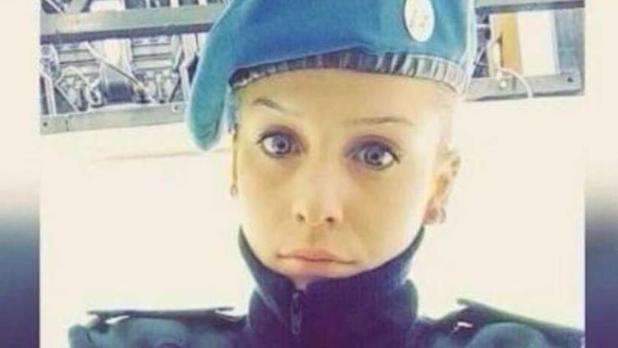 Ailen Arbini , la mujer policia marplatense furor en las redes sociales