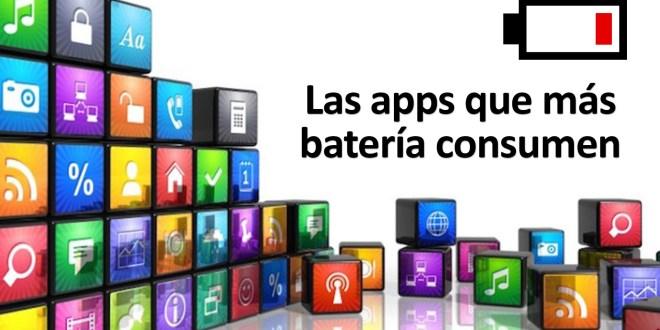 Las apps que mas bateria consumen