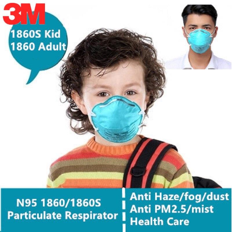 5-10pcs-3M-N95-1860-1860S-Gas-Mask-Kid-Adult-Health-Care-Medical-Anti-Virus-Pathogenic
