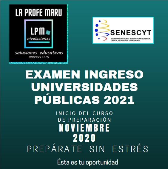Curso Ingreso Universidades 2021