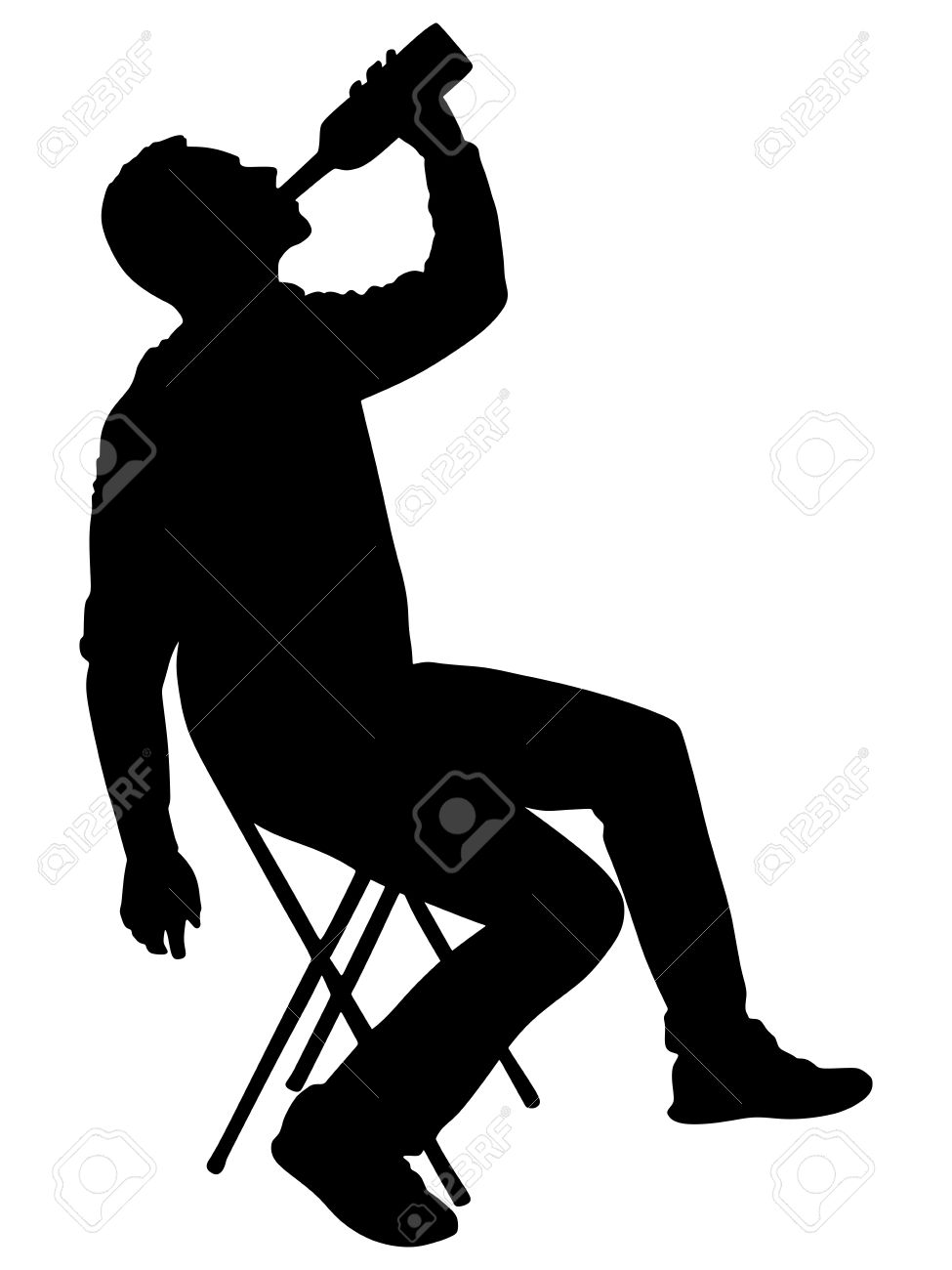 55657878-silhouette-of-alcoholic-drunk-man-vector