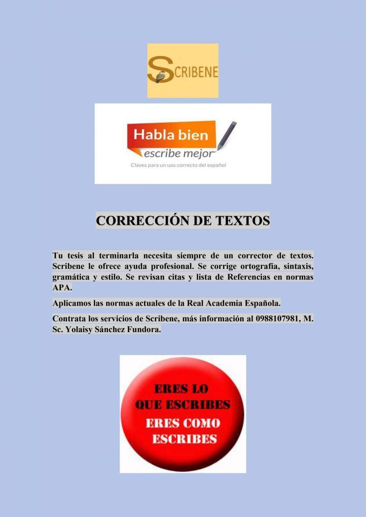 Anuncio Corrección de textos