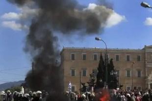 Un muerto en la huelga general de Grecia