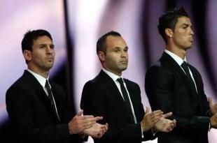 Messi, Cristiano e Iniesta son finalistas al Balón de Oro 2012