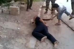 Insólito: Vídeo de niño verdugo en Homs