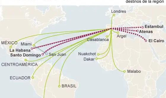Iberia deja de volar a Atenas, El Cairo y La Habana