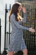 Kate Middleton con su primer vestido premamá - Fotos